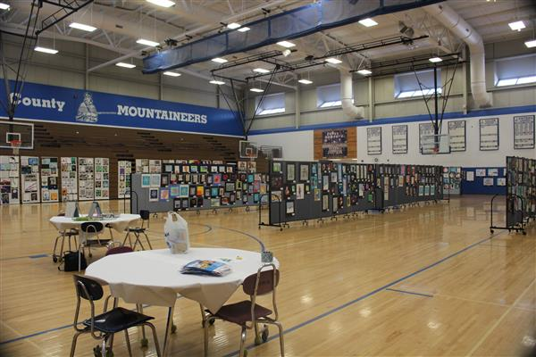 Art ready for viewing at the Madison Festival of the Arts