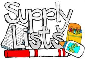 Supply Lists for 2018-2019