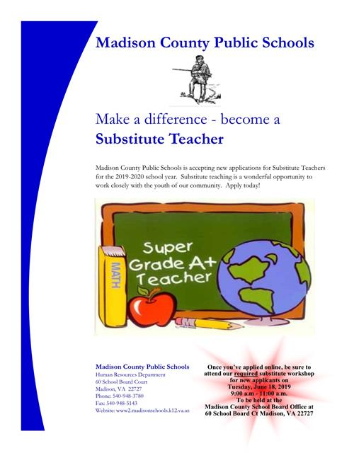 Substitute Training Flyer