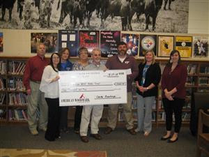 Wetsel Middle School administration accepts $5,000 grant